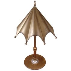 1stdibs - Charming 1930's Brass Umbrella Lamp explore items from 1,700  global dealers at 1stdibs.com