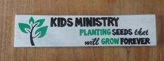 Made to order #kidsministry #woodensign