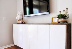 20 Best IKEA Hacks of 2013DIY Fauxdenza from Ikea Kitchen Cabinets A fun idea using kitchen cabinets to create a modern-looking credenza.