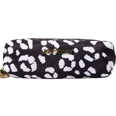 Betsey Johnson Con Pencil Case (320 ARS) ❤ liked on Polyvore featuring home, home decor, office accessories, leopard and betsey johnson