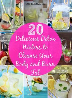 http://www.diyncrafts.com/7075/health/20-delicious-detox-waters-cleanse-body-burn-fat water detoxes