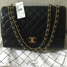 917766d0c54dcc Chanel Flap Maxi GHW Just want to share with your guys my newest purchased!  Chanel