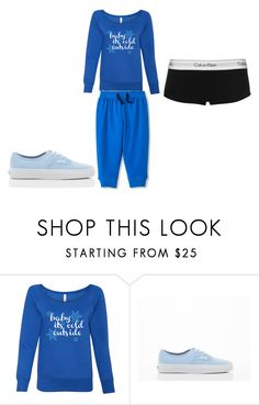 """""""Baby Blue"""" by daisy-owens on Polyvore featuring Vans and Calvin Klein"""