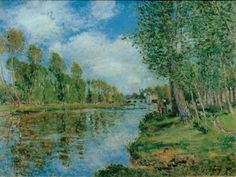 Banks of the Loing by Alfred Sisley Size: 54x73 cm Medium: oil on canvas