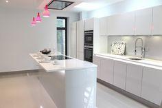 Handless White and Grey Beauformat Kitchen