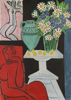 le-desir-de-lautre:  Henri Matisse (French, 1869–1954)  Daisies  July 16, 1939, oil on canvas, 38 5/8 x 28 1/4 in. (90.5 x 71.5 cm)  © 2013 Succession H. Matisse / Artists Rights Society (ARS), New York