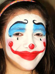 Face Painting Designs For Adults Easy Clown face painting