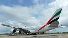 Now that is a long flight! - An Emirates Airbus A380 touched down in New Zealand on March 2, 2016, completing what is believed to be the world's longest non-stop scheduled commercial flight, covering 14,200 km