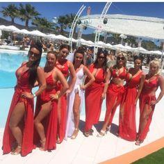 Hen Party Goals ���� Red \'Deana\' Skirts & 1 White Bridal \'Deana\' Skirt��  #henparty #hen #bride #oceanclub #squad #squadgoals #wedding #shop #online #bikinireef #bybikinireef #white #red #bride #bridal #uk #ukstockist #shipworldwide #originals #customise #customer #holiday #ss17 #hs17 gelinshop.com/...