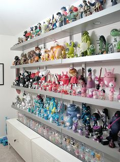 Epic color-coded toy display from illustrator Sarah Harvey's collection.