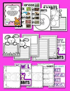 GREAT LIFE SCIENCE UNIT ON RABBITS.  This unit is stacked full of printables for easy prep.    This is a Science unit about rabbits which is designed to build Critical Thinking skills for all learners, and to work on increasing language and vocabulary, especially with ELL learners.