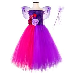 Cute Flower Girl Christmas Party Dresses Kids Tutu Dress Purple Solid Ankle Length Fairy Dresses for 12 Year Baby Girl Clothing Kids Tutu, Fairy Dress, Flower Dresses, Purple Dress, Cheap Dresses, Ankle Length, Girl Outfits, Girls, Cute