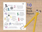 Write a book report in 10 steps.