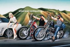 """Dave David Mann Biker Art Motorcycle Poster Print Easyriders Help, Flat Tire FOR SALE • $18.75 • See Photos! Money Back Guarantee. SIZE: 10.5"""" X 15.75"""" THIS PRINT IS FROM A FROM RARE ART BOOK. -Shipping is $4.99 for the first item and then $1 shipping for each additional item (2 items 201989542263"""