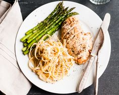 RECIPE MAKEOVER : Orange-Herb Fettuccine Alfredo with Creme Fraiche and Baked Chicken