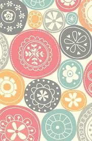 Tela decorativa canvas círculos canvasstoff decoraciones