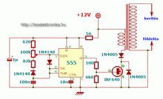 Electronics Engineering Projects, Electrical Projects, Electronic Engineering, Diy Electronics, Tesla Coil Circuit, Electric Fence Energizer, Electronic Circuit Design, Electrical Circuit Diagram, Diy Amplifier