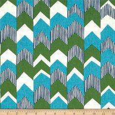 Richloom Nino Stripe Teal - Discount Designer Fabric - Fabric.com $8.98 per yard