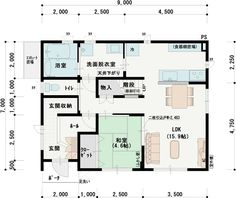 Japanese House, House Layouts, Floor Plans, How To Plan, Architecture, Home, Ideas, Arquitetura, Ad Home
