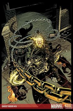 Ghost Rider by Mike Deodato Jr. Marvel Comic Character, Comic Book Characters, Marvel Characters, Comic Books, Marvel Comics Art, Marvel Heroes, Ms Marvel, Captain Marvel, Marvel Universe