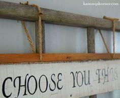 Striking Wall Decor Using Old Wood Siding And A Ladder | Hometalk