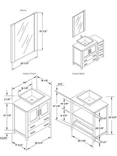 Bathroom Vanity Dimensions In Amazing Standard Sizes Home ...