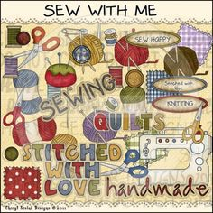 Sew With Me 1 - Clip Art by Cheryl Seslar