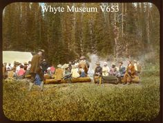 Alpine Club Camp, Sherbrooke Lake 1911 / Mary M. Canadian Rockies, The Old Days, Banff, Looking Back, Vintage Photos, Dolores Park, Old Things, Mary, Camping