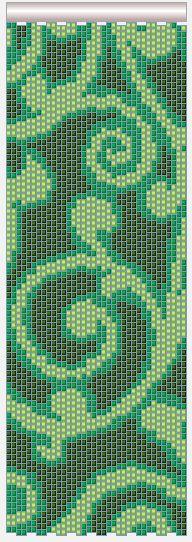 flat peyote arabesque pattern