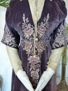 1908-LIBERTY-amp-Co-antique-dress-antique-gown-robe-ancienne-antikes-Kleid