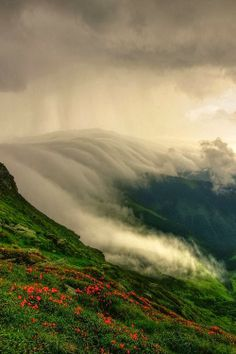 Clouds rolling over the Muntii Rodnei in Romania - The Rodna Mountains are part of the Eastern Carpathians in Northern Romania.- Photo by Lazar Ovidiu We Are The World, Wonders Of The World, Beautiful World, Beautiful Places, Places Around The World, Around The Worlds, Photos, Pictures, Amazing Nature