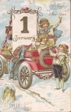 Love this vintage new years card!!!: