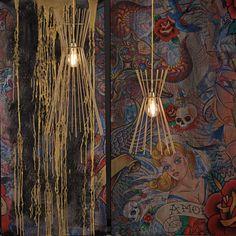 NAKED pendant lamp #naked #goldpendantlamp #handmade