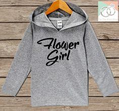 Girls Wedding Hoodie - Flower Girl Oufit - Grey Hoodie Kids, Toddler, Baby - Kids Wedding Outfit - Flower Girl Pullover - Wedding Gift