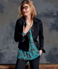 Women's Business Attire | Chic.E.O | cabi Fall 2016 Collection ~ The Ava Jacket, Zoe Top, & Ava Trouser! GORGEOUS look! <3