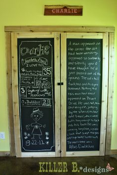 Chalkboard French-Style Closet Doors from @PureBond Plywood