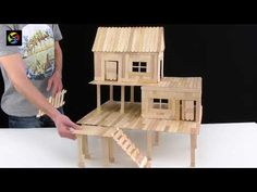 Ideas how to make carborad doll house easy different models of house are amazing desing help for you Popsicle Stick Crafts House, Popsicle Sticks, Craft Stick Crafts, Craft From Waste Material, Kids Doll House, Small Wooden House, Disney Home Decor, Child Doll, Wooden Crafts