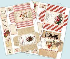 CHRISTMAS ENVELOPES Collage Digital Images by iralamijashop