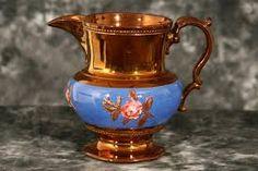 copper lusterware pitcher - Rose Cottage, Something Old, Vintage Vogue, China Porcelain, Fine China, Antique Copper, Household Items, Tea Set, Luster