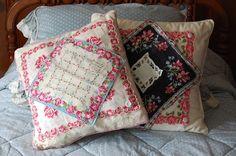 crafts vintage hankerchiefs | Vintage Hankie Pillows | crafts