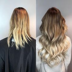 Bouncy waves! 🌊 Styled by Marika @rapunzelhelsinki. In this look we used 5 packets of Quick & Easy tape extensions in Cendre Ash Blond Ombre #T14/60 and Cendre Ash Blond Mix #P14/60 #rapunzelofsweden