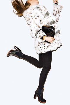 Fur Coats & Fall Bags Shoot - Best Fur Coats and Bags Fashion Editorial - Harper's BAZAAR