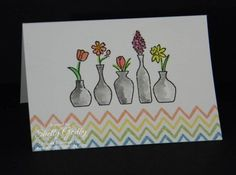Stampin' Up! Vivid Vases Watercolor Wonder Note Cards.    http://www.stampingsmiles.com