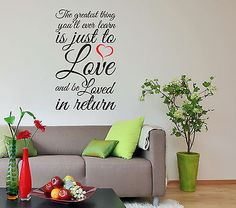 """""""The greatest thing you'll ever learn"""" Moulin Rouge Quote Wall Art Decal Sticker"""