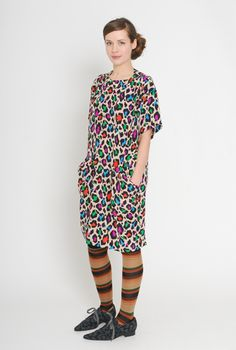 loving all these prints with stripey tights!!! ELEY KISHIMOTO AW11-12