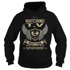 I am a Watching T.V What is Your Superpower Job Title TShirt