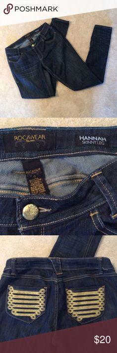 💰SALE‼️Rocawear Hannah skinny leg jeans, size 9 Rocawear skinny leg jeans , size 9,  very good condition , leg length 35 inseam, decorative back pockets Rocawear Jeans Skinny