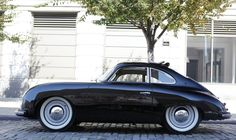 356 Clean Black Coupe with old school tires