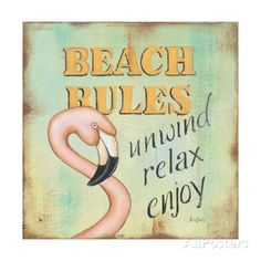 Beach Rules Posters by Kim Lewis at AllPosters.com