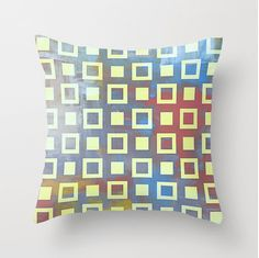 Throw pillow cover with concealed zipper by LeonLionStudio on Etsy Throw Pillow Covers, Throw Pillows, Urban Art, Vibrant Colors, Rainbow, Zipper, Cool Stuff, Unique Jewelry, Handmade Gifts